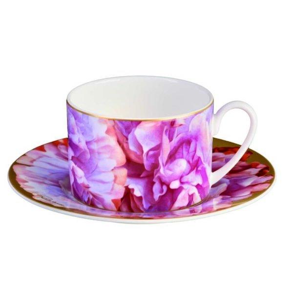 Eden pink teacup & saucer