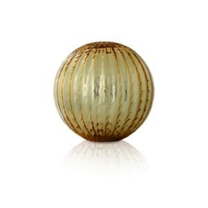 Large gold striated globe Murano