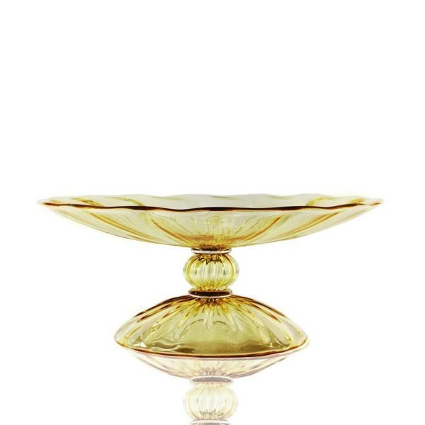 Minerva amber glass tazza