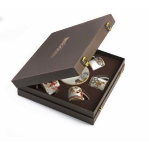 FLOWERS set 6 espresso cups in luxury gift box
