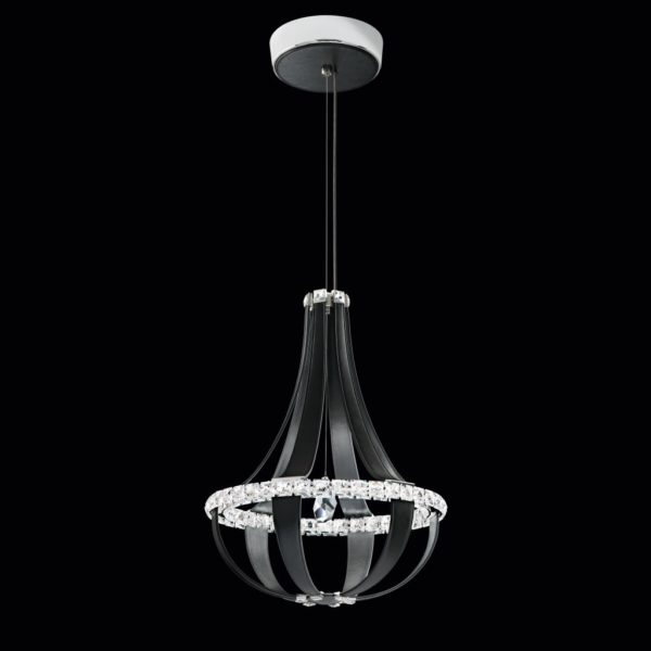 Crystal Empire lamp black leather