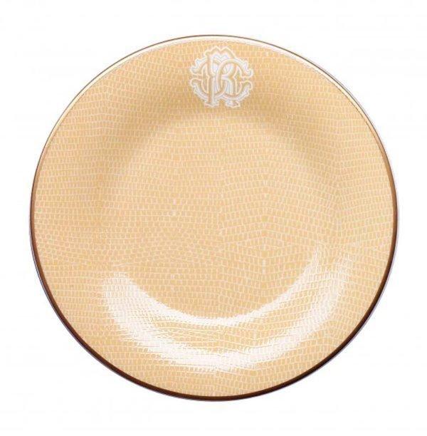 Lizzard gold dessert plate