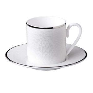 Lizzard platin espresso cup & saucer