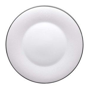 Lizzard platin dinner plate