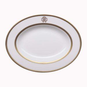 Silk gold small oval dish