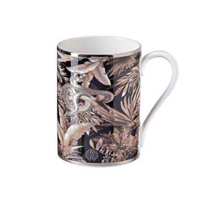 Tropical jungle black mug