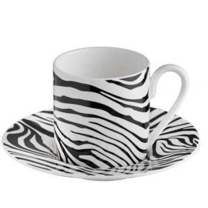 Zebrage espresso cup & saucer