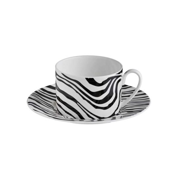 Zebrage tea cup & saucer