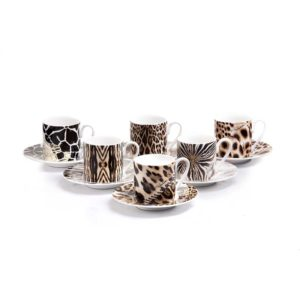 africa set 6pcs. espresso cups