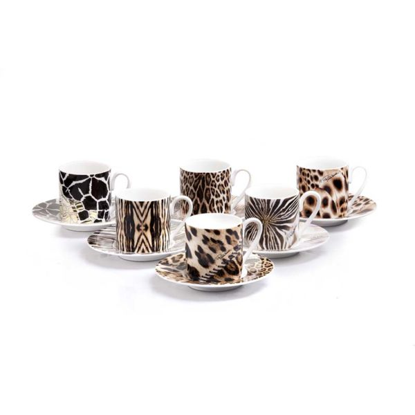 africa set 6pcs. espresso cups