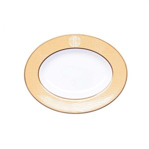 Lizzard gold small oval dish