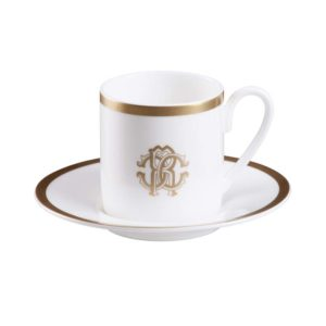 Silk gold espresso cup & saucer