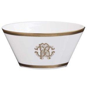 Silk gold fruit bowl