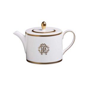 Silk gold tea pot