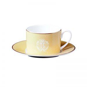 Lizzard gold teacup & saucer